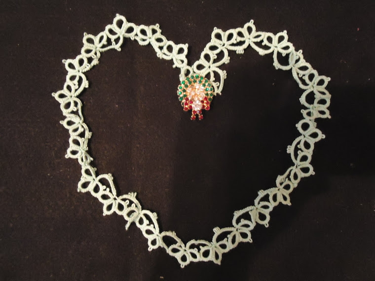 More edging tatting with a Christmas flair!