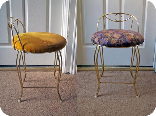Sally Ann - Reupholstering A Vanity Chair Sally Ann