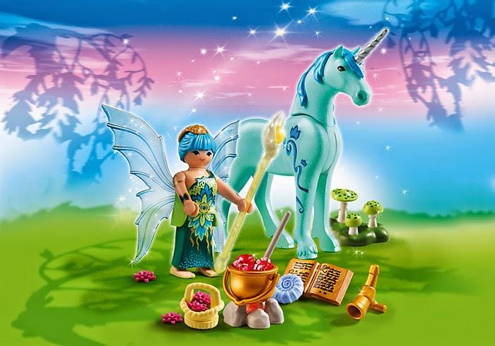 TOYS - PLAYMOBIL Fairies - 5441 Hada de la salud con Unicornio Noche Zafiro Juguete Oficial | Playmobil Hadas | A partir de 4 años