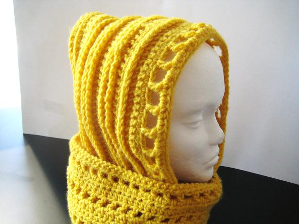 Crochet Pattern For Scarf Hood : Crochet Pattern Hooded Scarf Browse Patterns