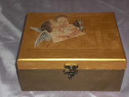 Caixa(bronze e ouro)com anjo