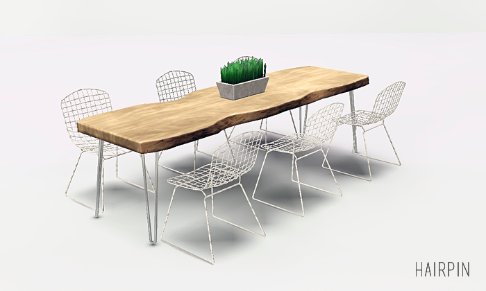 My Sims 3 Blog Updated Live Edge Dining Tables Fixed By