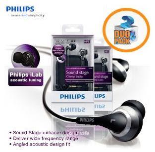 In-Ear-Kopfhörer Philips SHE9800 bei iBood im Doppelpack für 35,90 Euro