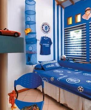 Dormitorios para ni os color azul colores en casa - Habitacion infantil azul ...