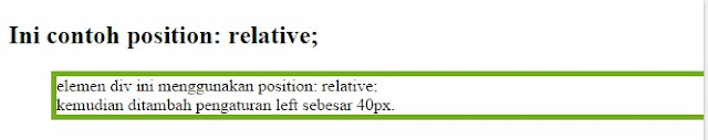 css position relative