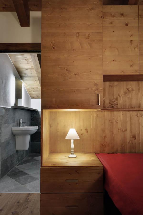 mobiliario dormitorio hecho a medida de madera natural