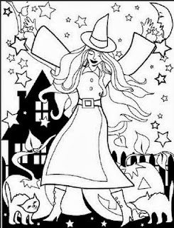 Halloween Witches for Coloring, part 4