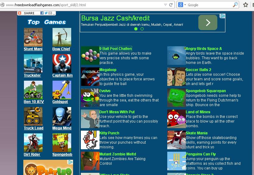 Free Blog Tutorial: Cara Membuat Game Flash Online menjadi ...