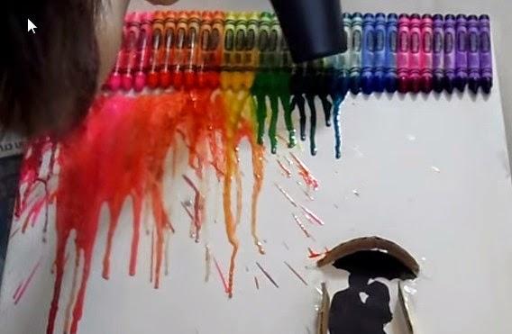 DIY: Crayon Art/ Painting