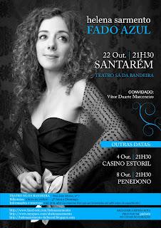Helena Sarmento apresenta Fado azul em Santarém