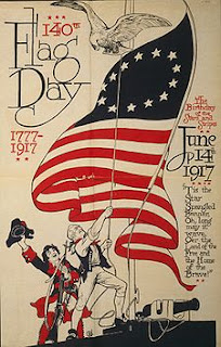 Poster commemorating the 140th Flag Day on June 14, 1917