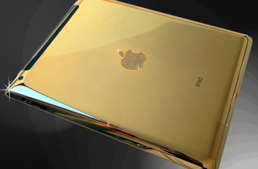 iPad Air with Gold and Diamond Case