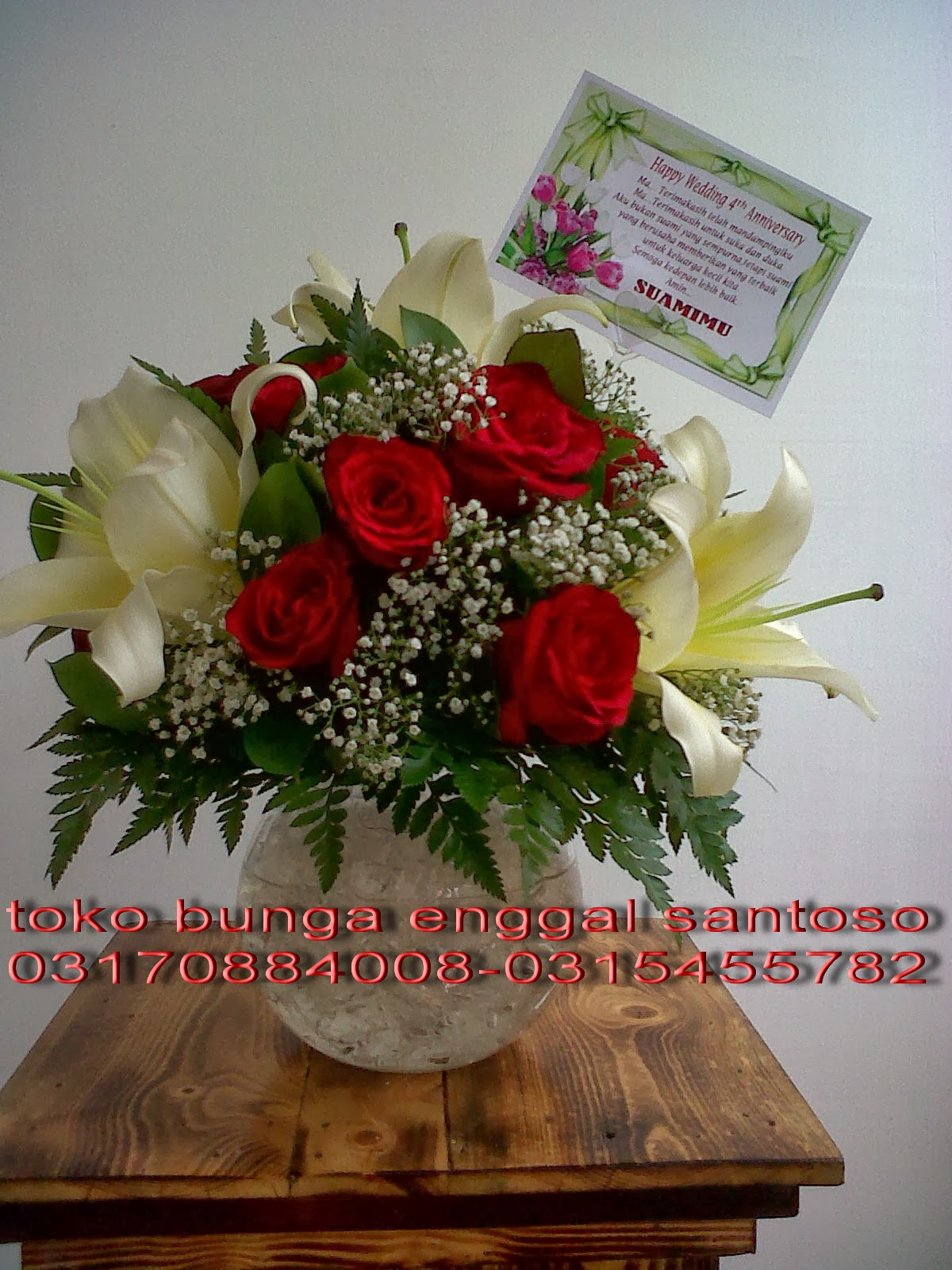 bouquet bunga meja toko bunga surabaya