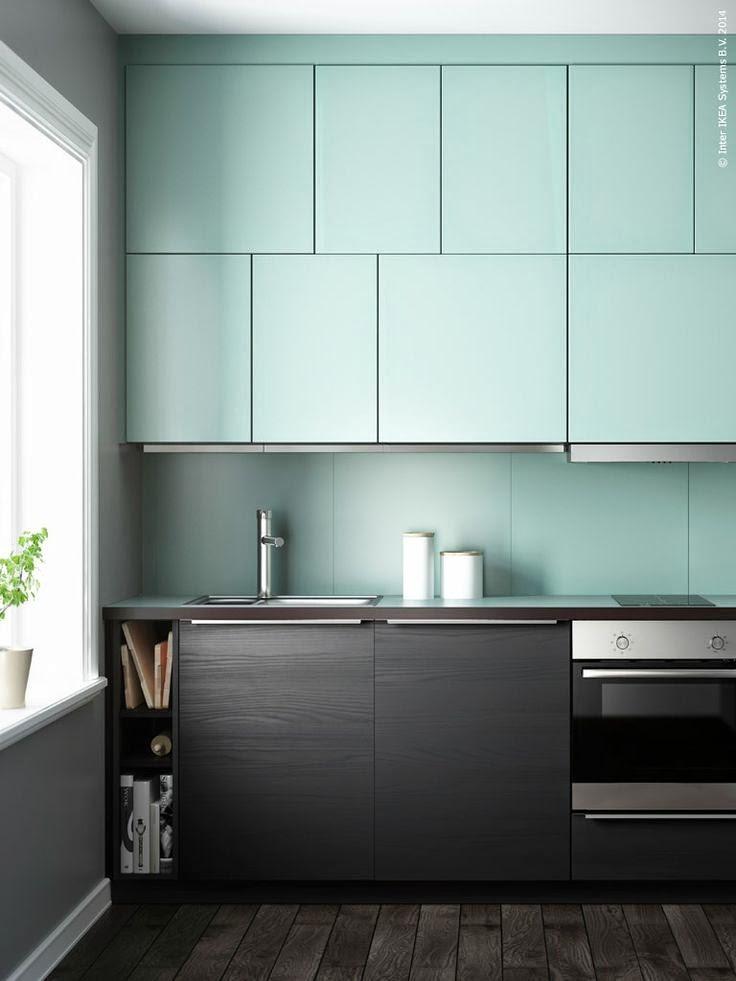 Muebles de cocina en dos colores for Combinacion de colores para muebles de cocina