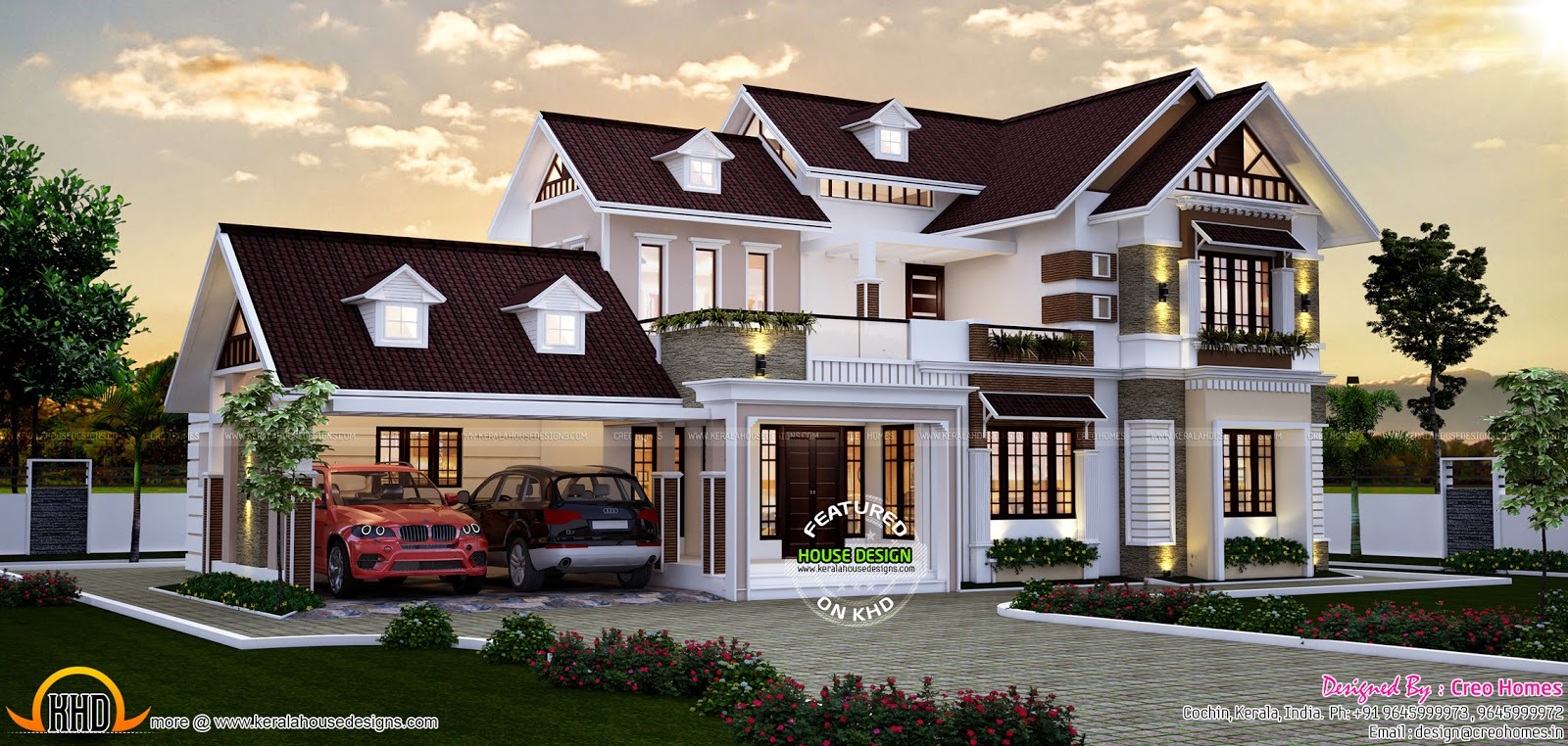 August 2015 kerala home design and floor plans Elegant farmhouse plans