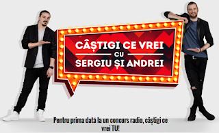 Concurs Kiss FM 2015 - castigi ce vrei cu Sergiu si Andrei