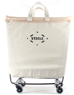 Canvas Laundry Cart from Steele