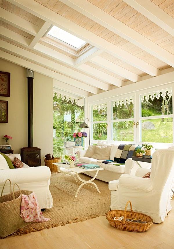 Estilo rustico los interiores de techos de tejas rusticos for Verande arredate