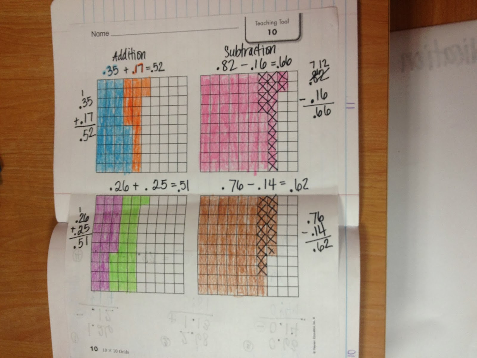 subtracting fractions with borrowing worksheets