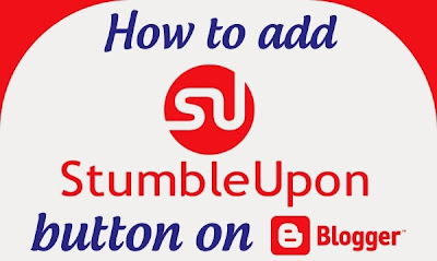 Add StumbleUpon button on blogger