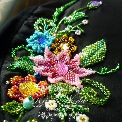 Contoh bunga2 manik 3D..