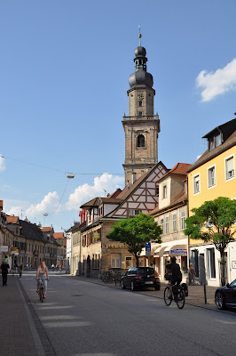Main Street in Erlangen, Germany
