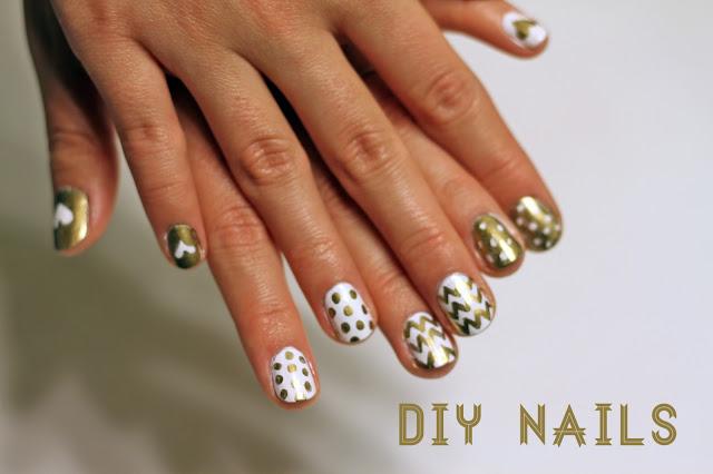 DIY Gold Nails | Brewedtogether.com