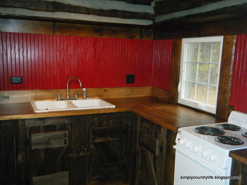 Simply Country Life: Cabin Chronicles Part 12   Reclaimed Barnwood Kitchen  Cabinets