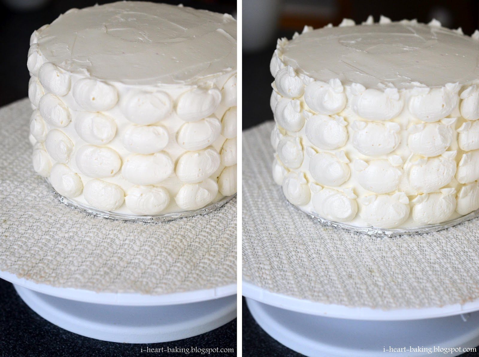 Piping Frosting Ombre Pink Cake Whipped Cream