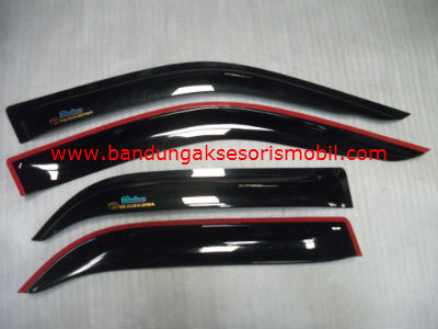 Talang Air All New Corolla Original Black Depan Belakang