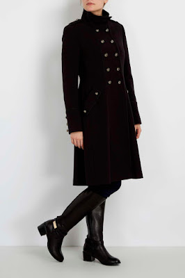 Wallis Black Double Crepe Coat