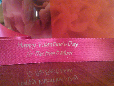 The Valentines Flowers Personalised Ribbon