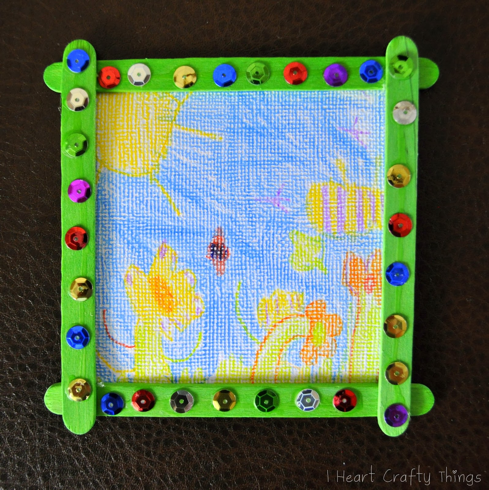 Homemade Grandparent Christmas Gift from Kids | I Heart Crafty Things