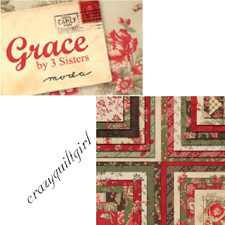 Moda GRACE Christmas Quilt Fabric by 3 Sisters