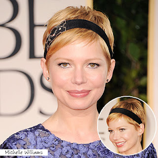 michelle+williams+golden+globes+2012 Easy Tricks To Create Golden Globes Hairstyles!