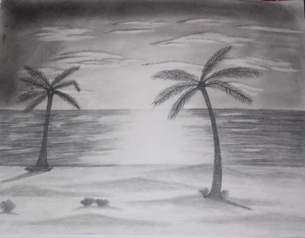 unheard melodies. beach landscape