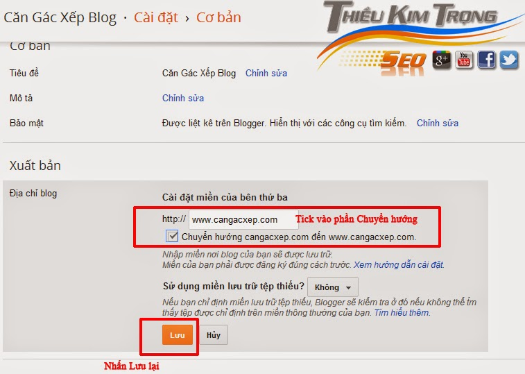 cach tro ten mien mua o goddady ve blogspot