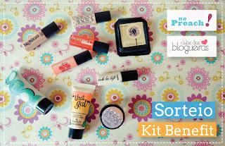 kit de maquiagem Benefit - miniaturas - travel size