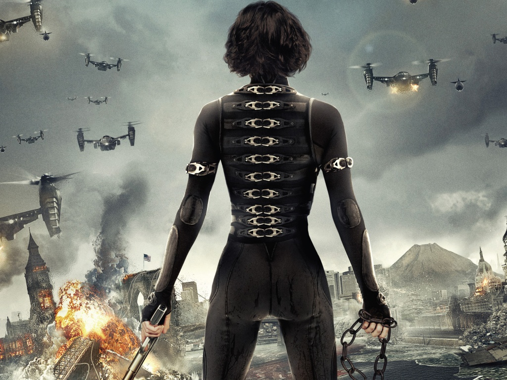 Alice in Resident Evil 5 Retribution Movies HD Wallpaper