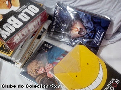 Box do Old Boy, All You Need is Kill, Vinland Saga, e Assassination Classroom, tudo embalado e protegido do amarelado!