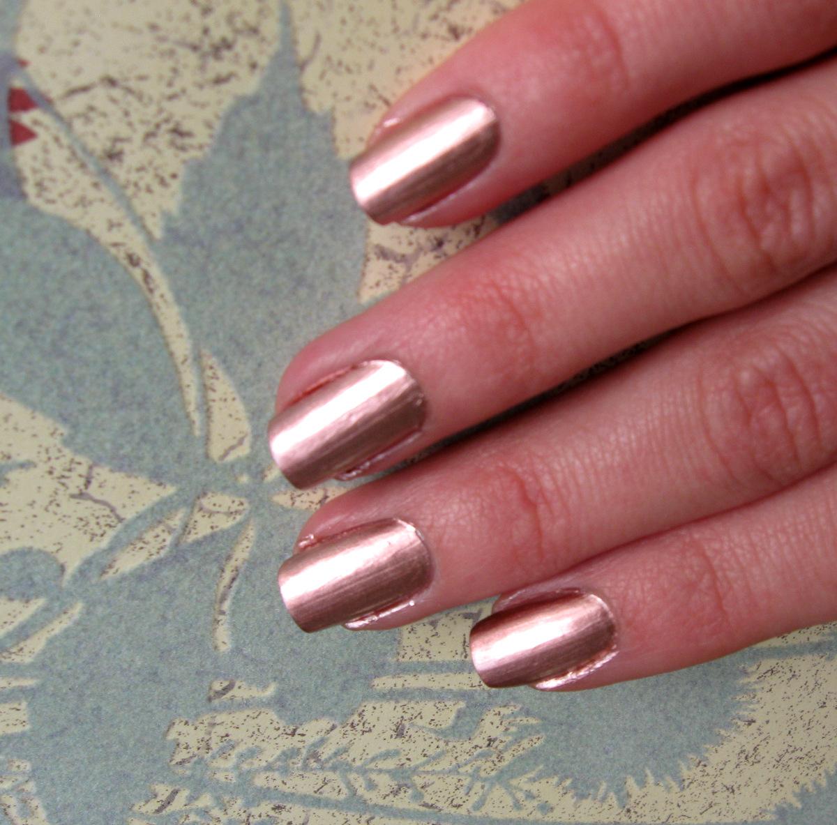 Rose Gold Metallic Nail Polish Shade