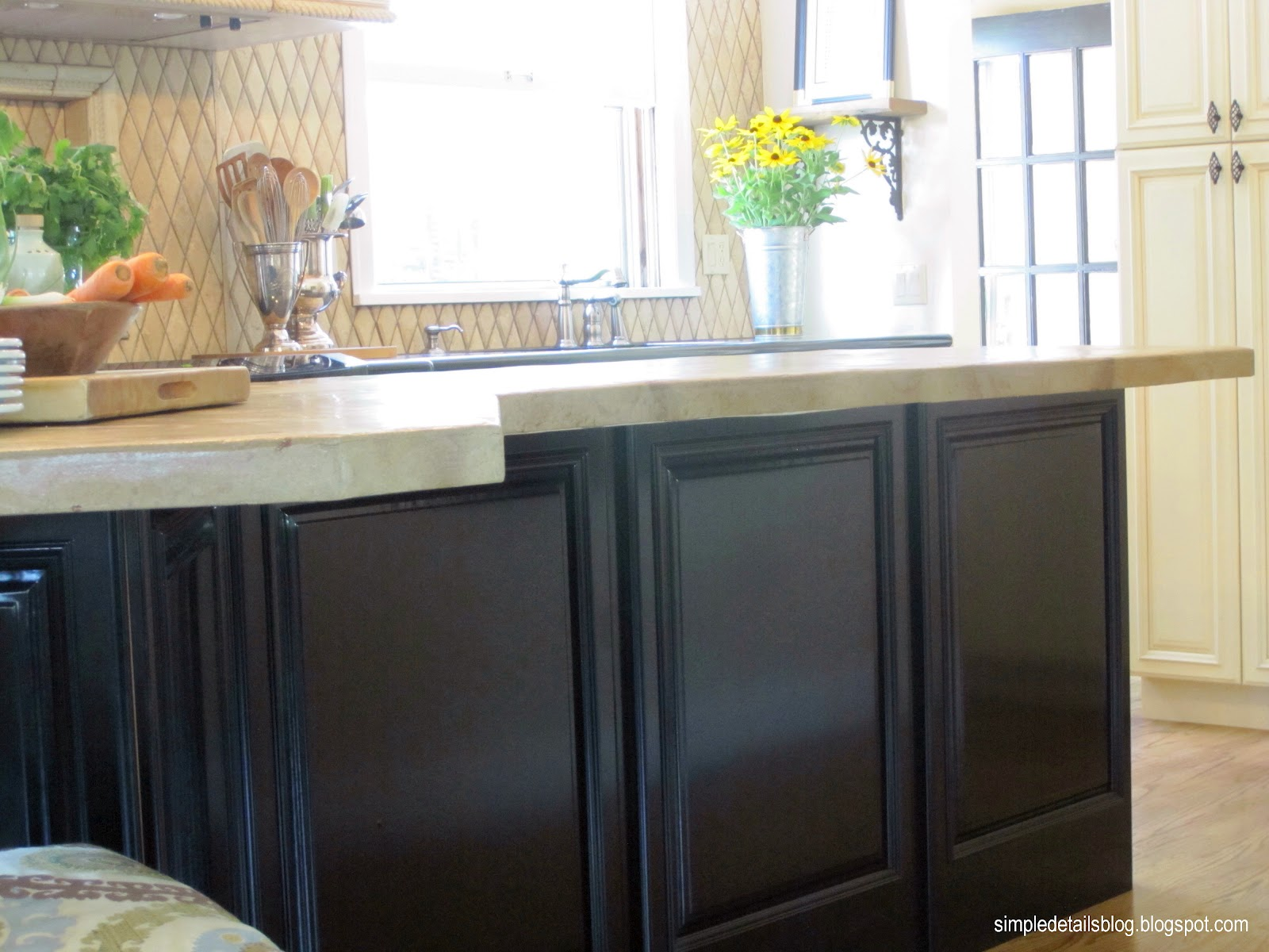 Simple Details how to a high end look from stock cabinets