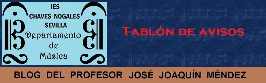 Blog del profesor José Joaquín Méndez