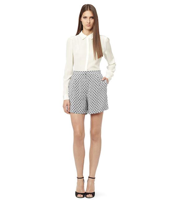 reiss silk shorts