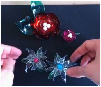 Цветы из пластиковых бутылок своими руками с