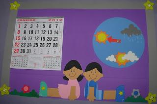 Calendário e como está o tempo hoje