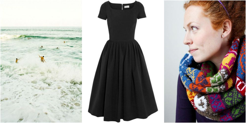 surfing vintage dress favourite things infinity scarf