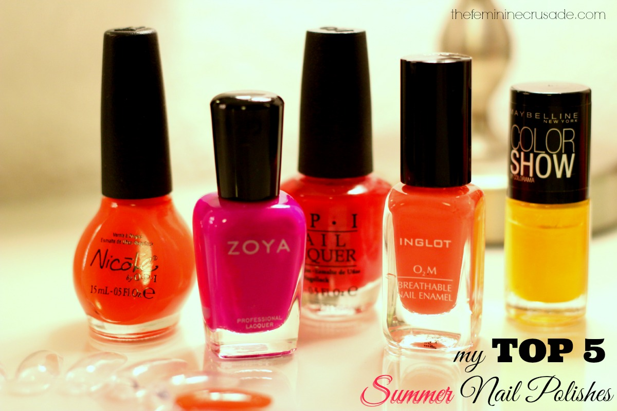 My Top 5 Summer Nail Polishes