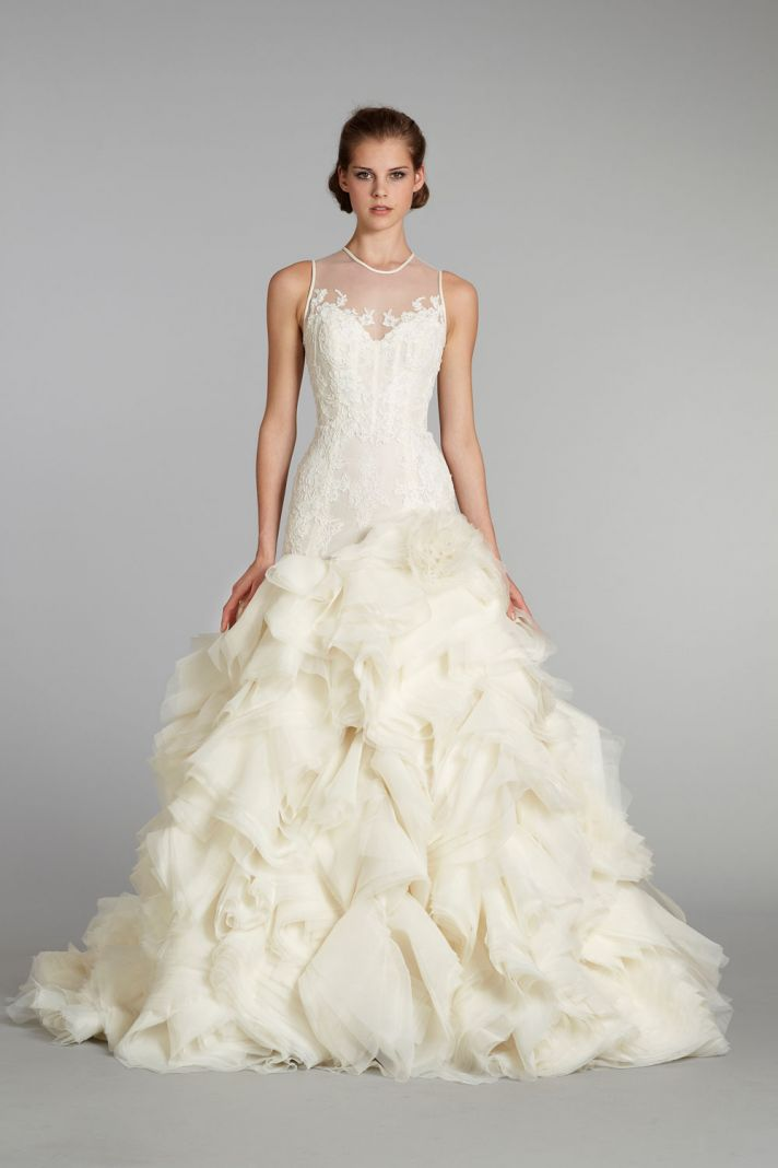Dawn j 39 s fashion wedding gown wedding dresses from lazaro for Image of wedding dresses