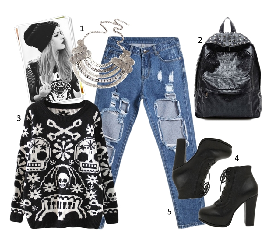 Winter Grunge Outfit OASAP